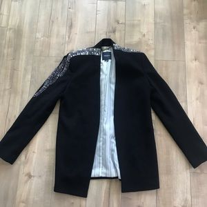 Gryphon NY Cashmere Wool Blazer Sequins Sz M
